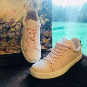 H&M Pink Suede Sneakers